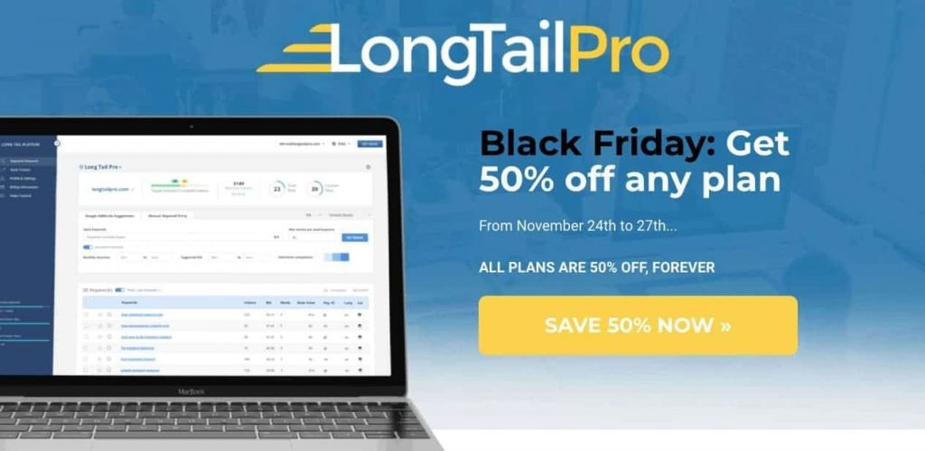 LongTailPro Black Friday Deal