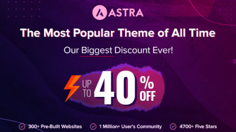 Astra Black Friday Deal 2020