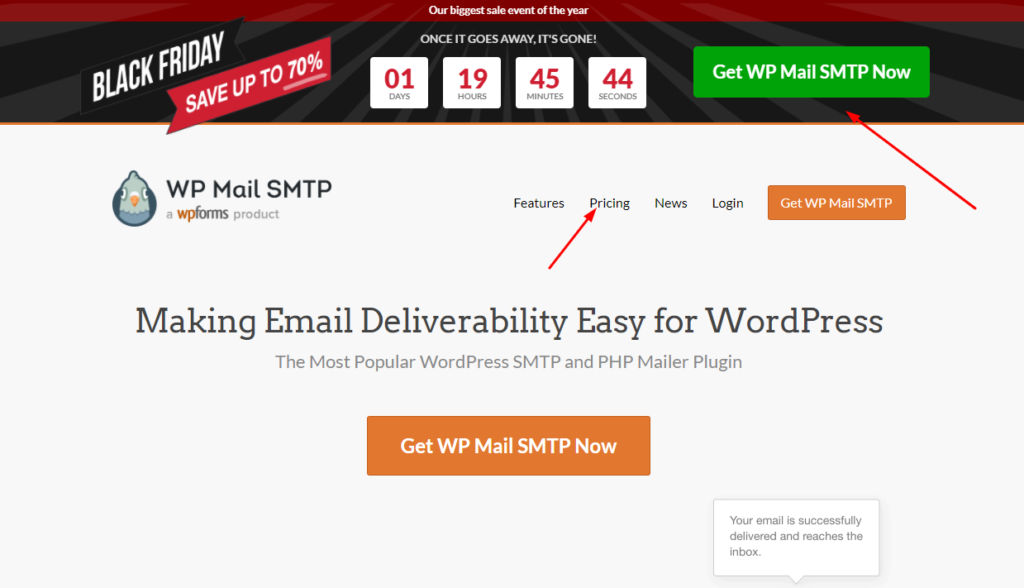Claim WP MAIL SMTP Black Friday Deal