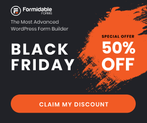 Formidable Forms Black Friday deal